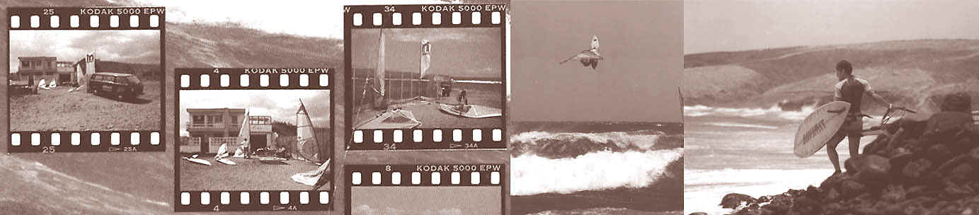 The Koesters beginnings at Vargas, dad Rolf flying high, Andy entering the water back in 1993